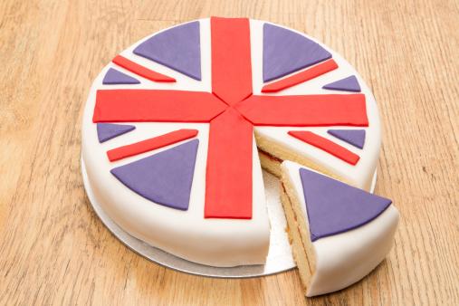 ユニオンジャック「ビクトリアのスポンジケーキのアイシング飾りに英国の旗」:スマホ壁紙(6)