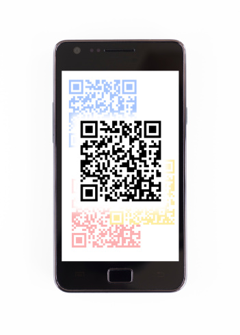 Device Screen「Barcode on mobile phone」:スマホ壁紙(3)