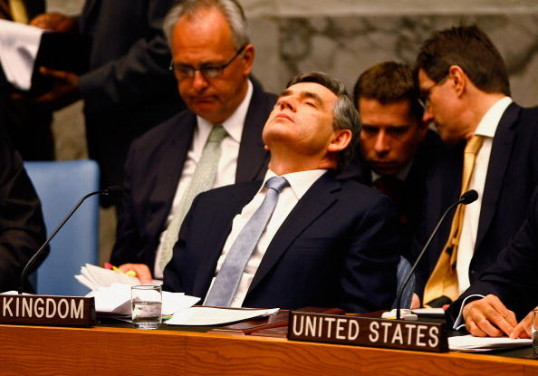 Boredom「Gordon Brown Participates In UN Security Council Debate」:写真・画像(5)[壁紙.com]