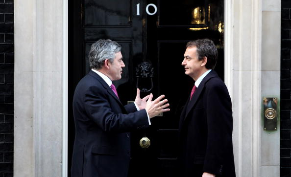 Jose Luis Rodriguez Zapatero「Gordon Brown And Leaders Of Greece, Norway And Spain Meet In London」:写真・画像(6)[壁紙.com]