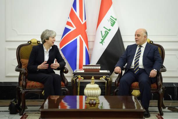 Theresa May Visits Iraq:ニュース(壁紙.com)