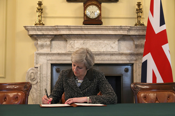 Politician「The Prime Minster Of the United Kingdom Theresa May Signs Article 50」:写真・画像(8)[壁紙.com]