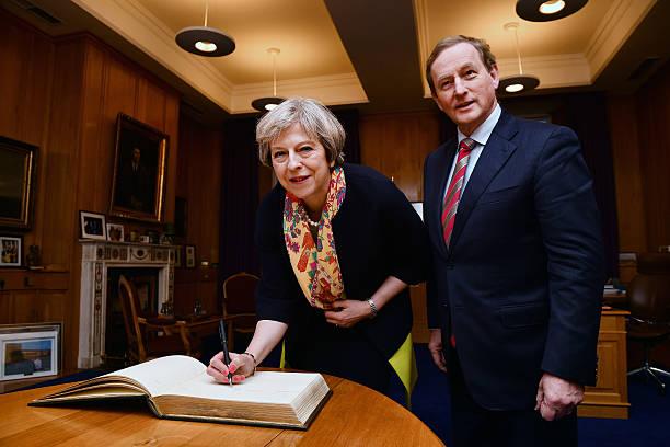 Theresa May Meets Irish Taoiseach Enda Kenny:ニュース(壁紙.com)