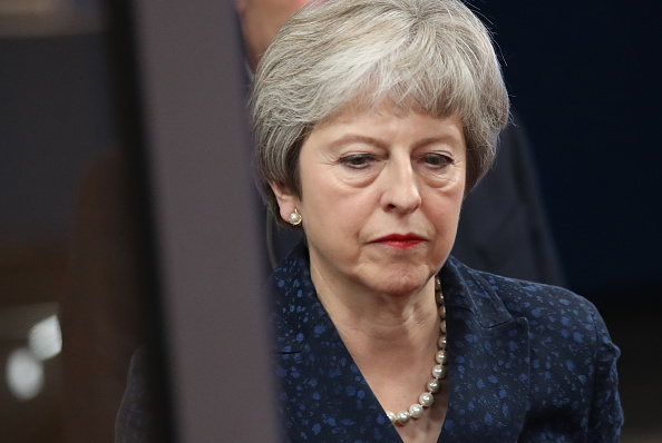 Theresa May「British Prime Minister Arrives In Brussels Ahead Of Brexit Summit」:写真・画像(19)[壁紙.com]