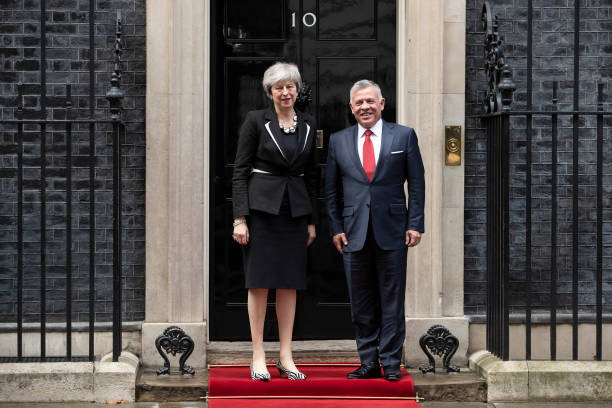 The King Of Jordan Visits Britain's Prime Minister Theresa May:ニュース(壁紙.com)