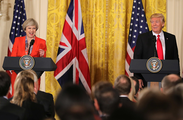 Conference - Event「President Trump Meets With British PM Theresa May At The White House」:写真・画像(3)[壁紙.com]