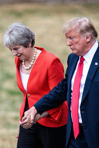 Press Room「President Donald Trump And British Prime Minister Theresa May Hold Bi-lateral Talks At Chequers」:写真・画像(3)[壁紙.com]