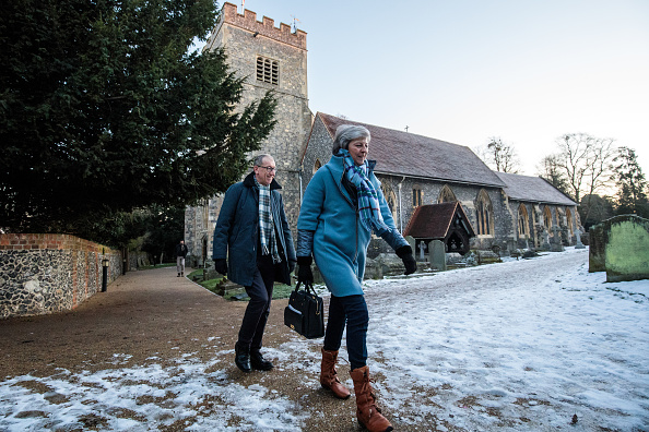 Church「Theresa May And Husband Attend Their Local Church Service」:写真・画像(5)[壁紙.com]