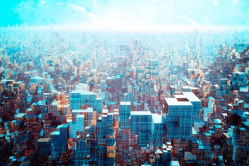 Imagination「Alien futuristic cityscape」:スマホ壁紙(9)