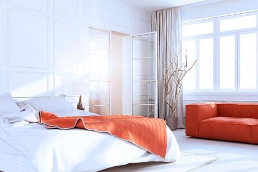 Bauhaus - Art Movement「White Luxury Bedroom Interior」:スマホ壁紙(10)