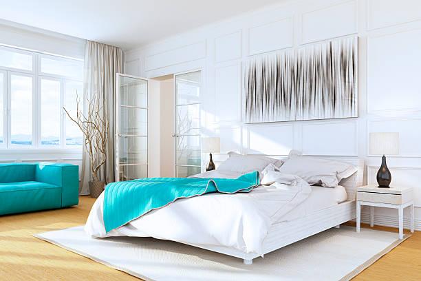 White Luxury Bedroom Interior:スマホ壁紙(壁紙.com)