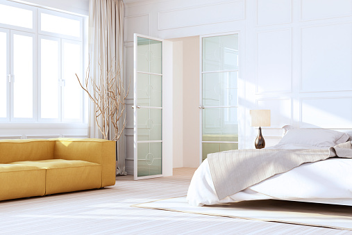 House「White Luxury Bedroom Interior」:スマホ壁紙(2)