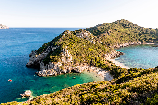 Corfu「Greece, Corfu, Cape Arilla near Afionas」:スマホ壁紙(6)