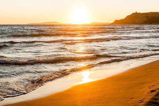 Corfu「Greece, Corfu, Arillas beach in the evening」:スマホ壁紙(16)