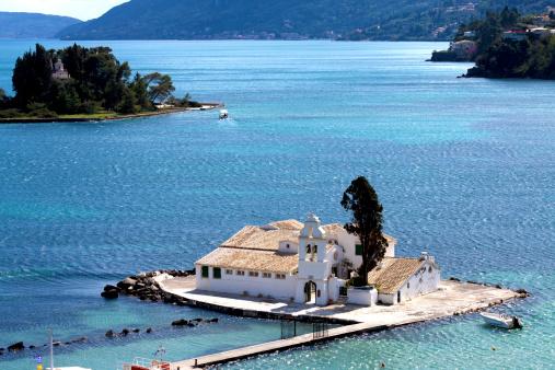 Corfu「Greece, Corfu, Corfu Town, Vlacherna Monastery」:スマホ壁紙(9)