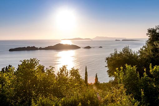 Corfu「Greece, Corfu, Afionas, sunset at the coast」:スマホ壁紙(19)