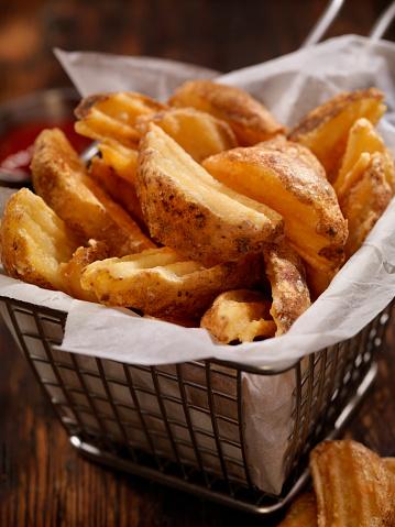 Scalloped - Pattern「Basket of Wedge Fries」:スマホ壁紙(15)