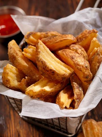 Scalloped - Pattern「Basket of Wedge Fries」:スマホ壁紙(14)