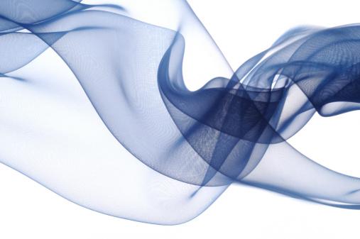 Wave「Blue silk on white background」:スマホ壁紙(9)