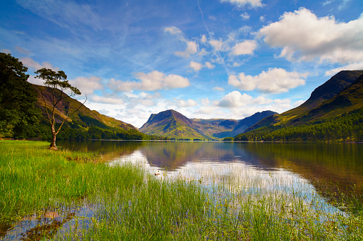 Water Surface「Sunshine Over Buttermere, English Lake District」:スマホ壁紙(12)