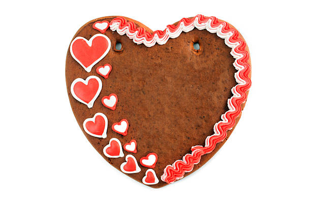 Copy space love heart valentines day gingerbread cookie:スマホ壁紙(壁紙.com)