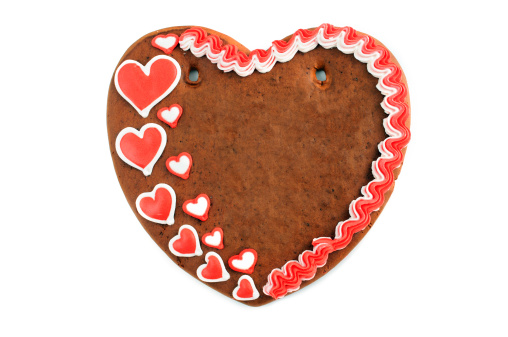 Gingerbread Cookie「Copy space love heart valentines day gingerbread cookie」:スマホ壁紙(12)