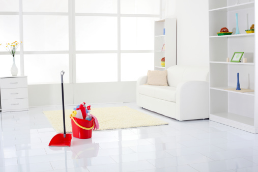 Bucket「Living room after a thorough cleaning.」:スマホ壁紙(1)
