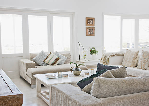 Living room of modern home:スマホ壁紙(壁紙.com)