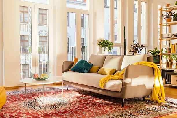 Living room area with Persian rug:スマホ壁紙(壁紙.com)