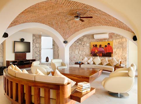 Ceiling Fan「Living Room in Villa Guillermo」:スマホ壁紙(2)