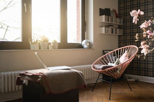 Armchair「Living room with window」:スマホ壁紙(10)