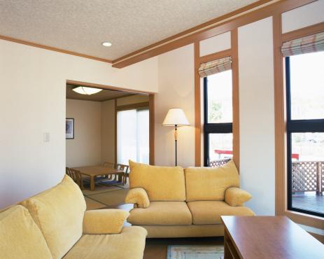 ソファ「Living Room」:スマホ壁紙(2)
