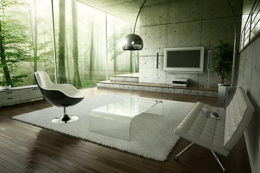 Design「Living room in the forest」:スマホ壁紙(16)