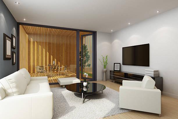 Living Room with Terrace:スマホ壁紙(壁紙.com)