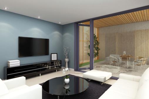 Terraced Field「Living Room with Terrace」:スマホ壁紙(3)