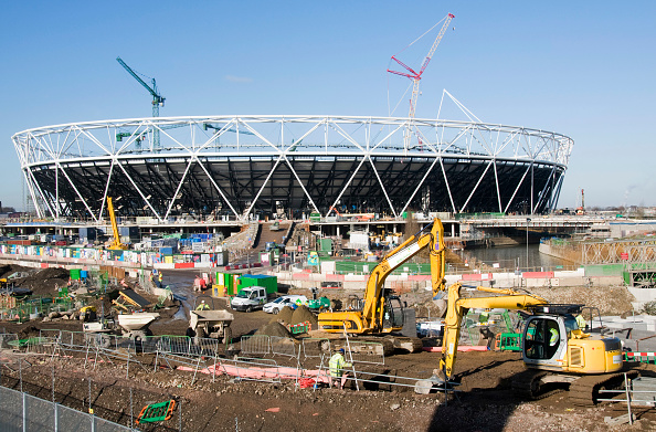 2012 Summer Olympics - London「UK. London 2012 Olympic Park, with views of stadium and swimming pool. 1 February 2010」:写真・画像(13)[壁紙.com]