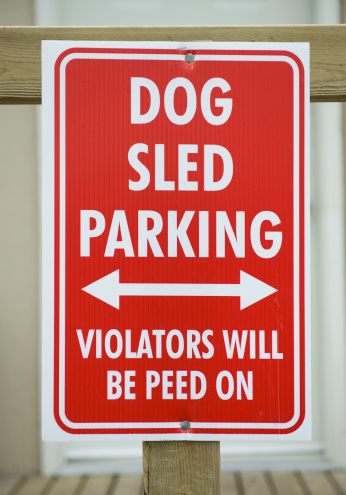 Dogsledding「Funny sign, Churchill, Canada」:スマホ壁紙(5)