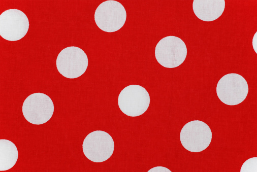 Polka dot「white polka dots on red fabric」:スマホ壁紙(19)