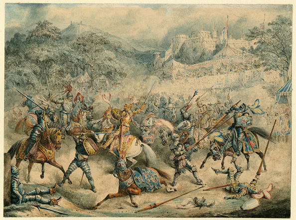 Chromolithograph「Tournament Of Mounted Knights」:写真・画像(5)[壁紙.com]
