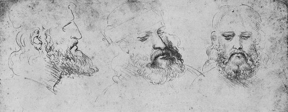 Head「'Studies of the Head of Cesare Borgia from Three Points of View', c1480」:写真・画像(3)[壁紙.com]