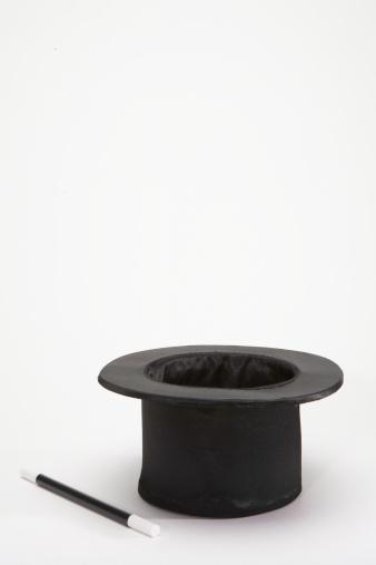 シルクハット「Magic wand beside top hat」:スマホ壁紙(14)
