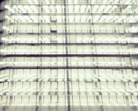 Multiple Exposure「Office Facade with Windows, Blurred Motion」:スマホ壁紙(9)