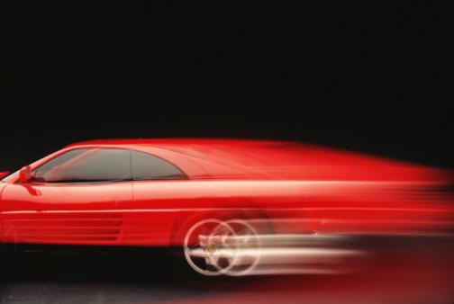 Sports Car「Red car (blurred motion)」:スマホ壁紙(16)
