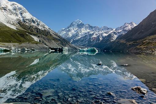 Mt Cook「Mt. Cook and glacier lake at aoraki area, New Zealand」:スマホ壁紙(19)