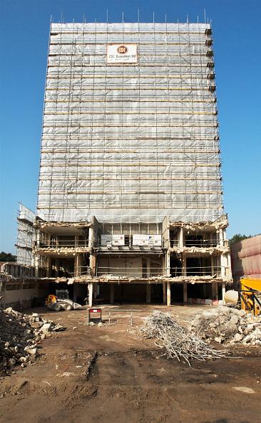 Scaffolding「Demolition of Ipswich Council offices block, Suffolk, UK」:写真・画像(16)[壁紙.com]