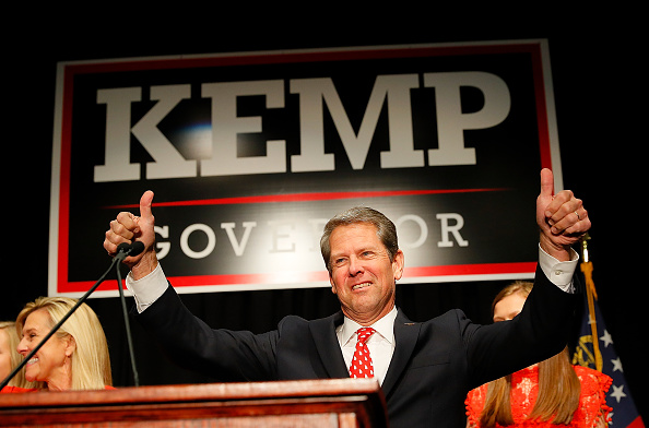 Governor「Republican Candidate For Governor Brian Kemp Attends Election Night Event In Athens, Georgia」:写真・画像(6)[壁紙.com]