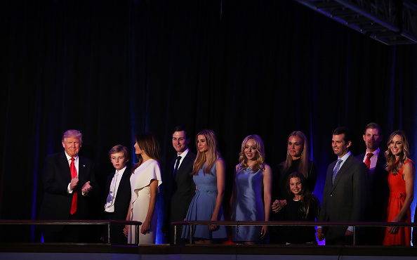 Family「Republican Presidential Nominee Donald Trump Holds Election Night Event In New York City」:写真・画像(16)[壁紙.com]