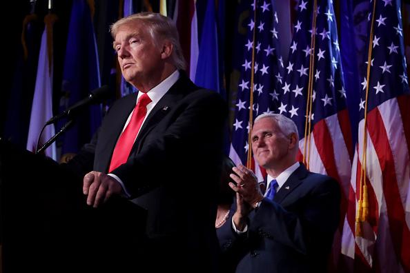 Presidential Election「Republican Presidential Nominee Donald Trump Holds Election Night Event In New York City」:写真・画像(9)[壁紙.com]