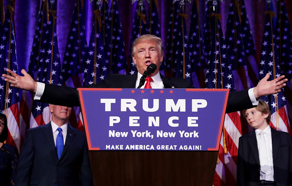 Presidential Election「Republican Presidential Nominee Donald Trump Holds Election Night Event In New York City」:写真・画像(8)[壁紙.com]