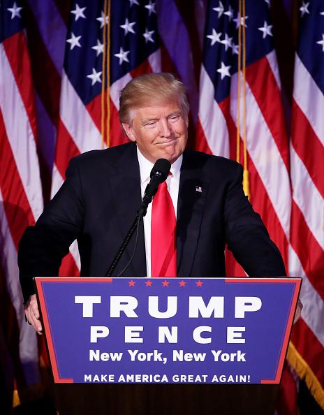 笑顔「Republican Presidential Nominee Donald Trump Holds Election Night Event In New York City」:写真・画像(6)[壁紙.com]